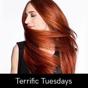 Terrific-Tuesdays at Coco hair salon in Eastbourne