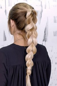 plaited hairstyle at Coco hair eastbourne