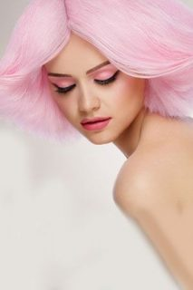Pink Hair Colour for Breast Cancer Awareness Month
